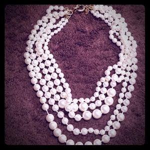 Vintage J Crew multi strains pearl necklace. New.